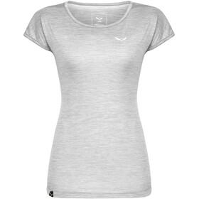 SALEWA Puez Melange Dry T-shirt Dames, white melange